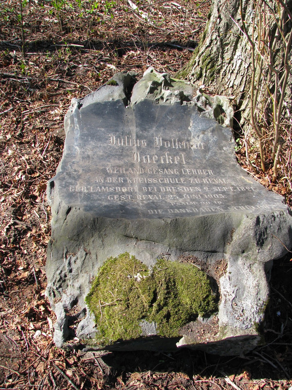 One of the few survived headstones at Mõigu.