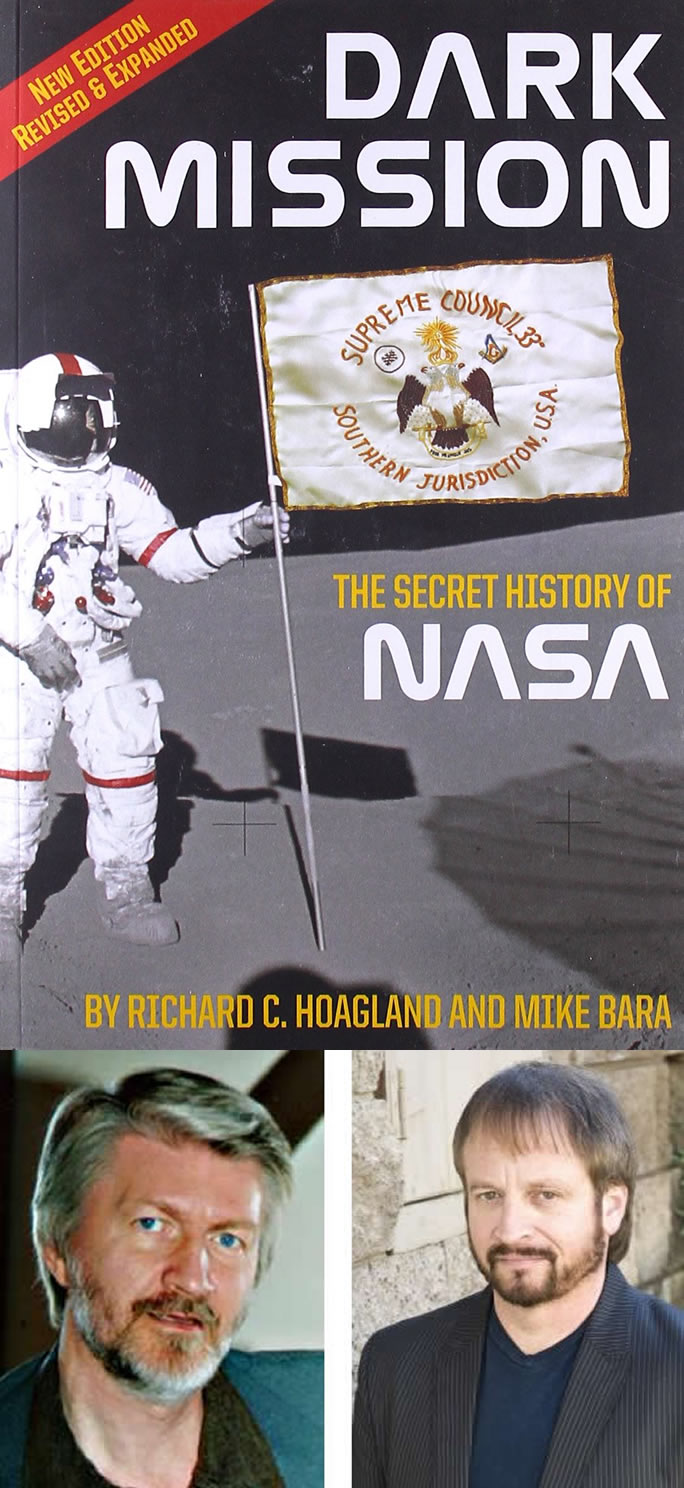 "Libro ""Dark Mission: The Secret History of NASA"" , de Richard C. Hoagland y Mike Bara."