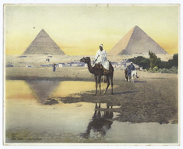 Cairo - The pyramids. 1860s-1920s. The New York Public Library. Photography Collection, Miriam and Ira D. Wallach Division of Art, Prints and Photographs.