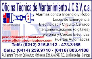 OFICINA T�CNICA DE MANTENIMIENTO J.C.S.V, C.A. en Paginas Amarillas tu guia Comercial