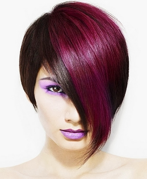 funky hair color ideas short