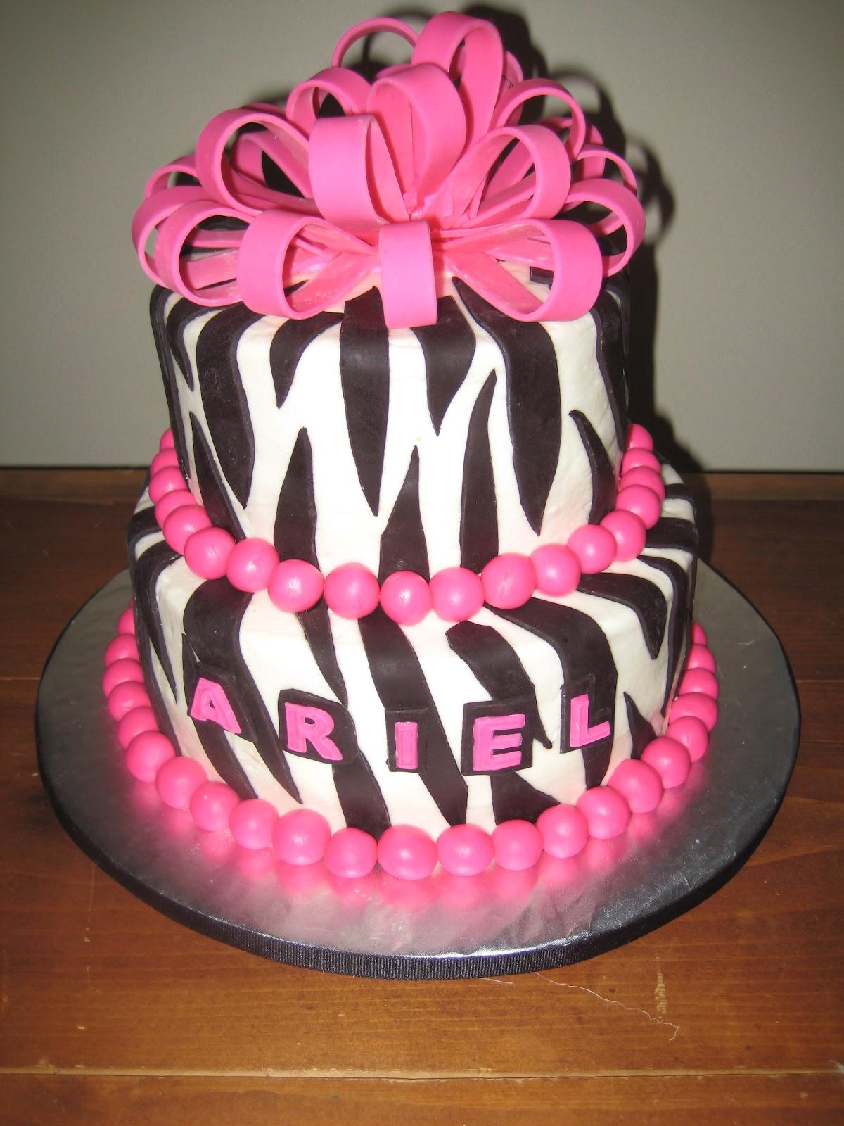 Print Images On Cake : AllTieredUp Cakes: Zebra Print Cake