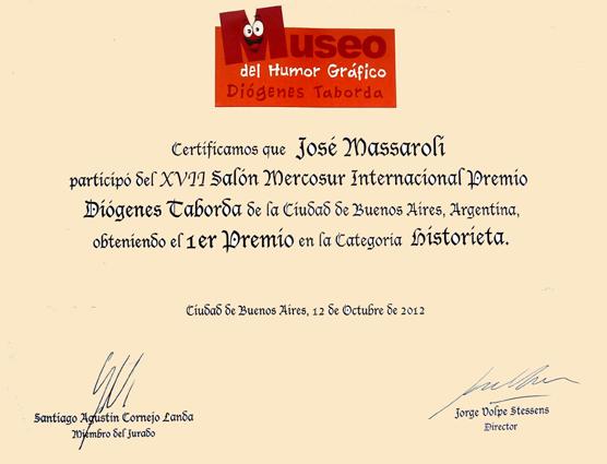 ¡Primer premio del XVII Salón Mercosur Internacional Premio Diogenes Taborda 2012!