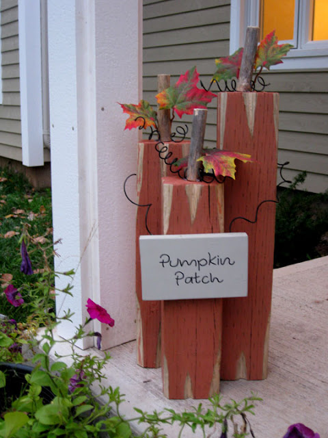 Thinking with my heart 4x4 pumpkin porch decoration for free for Decoration 4x4