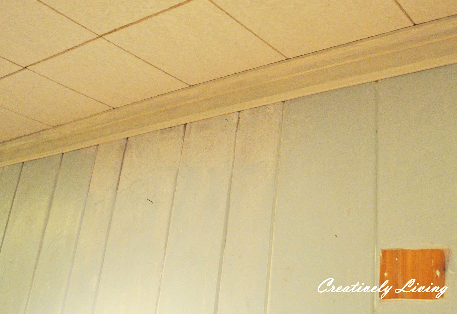 Faux Molding and Painting for Wood Paneling (under 30 cents/ft) With ...