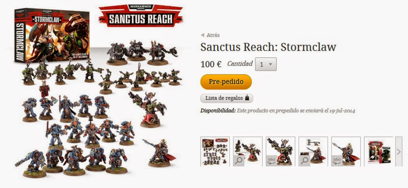 Prepedido de Sanctus Reach: Stormclaw