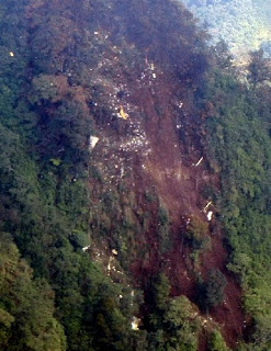 foto lokasi evakuasi sukhoi sj100