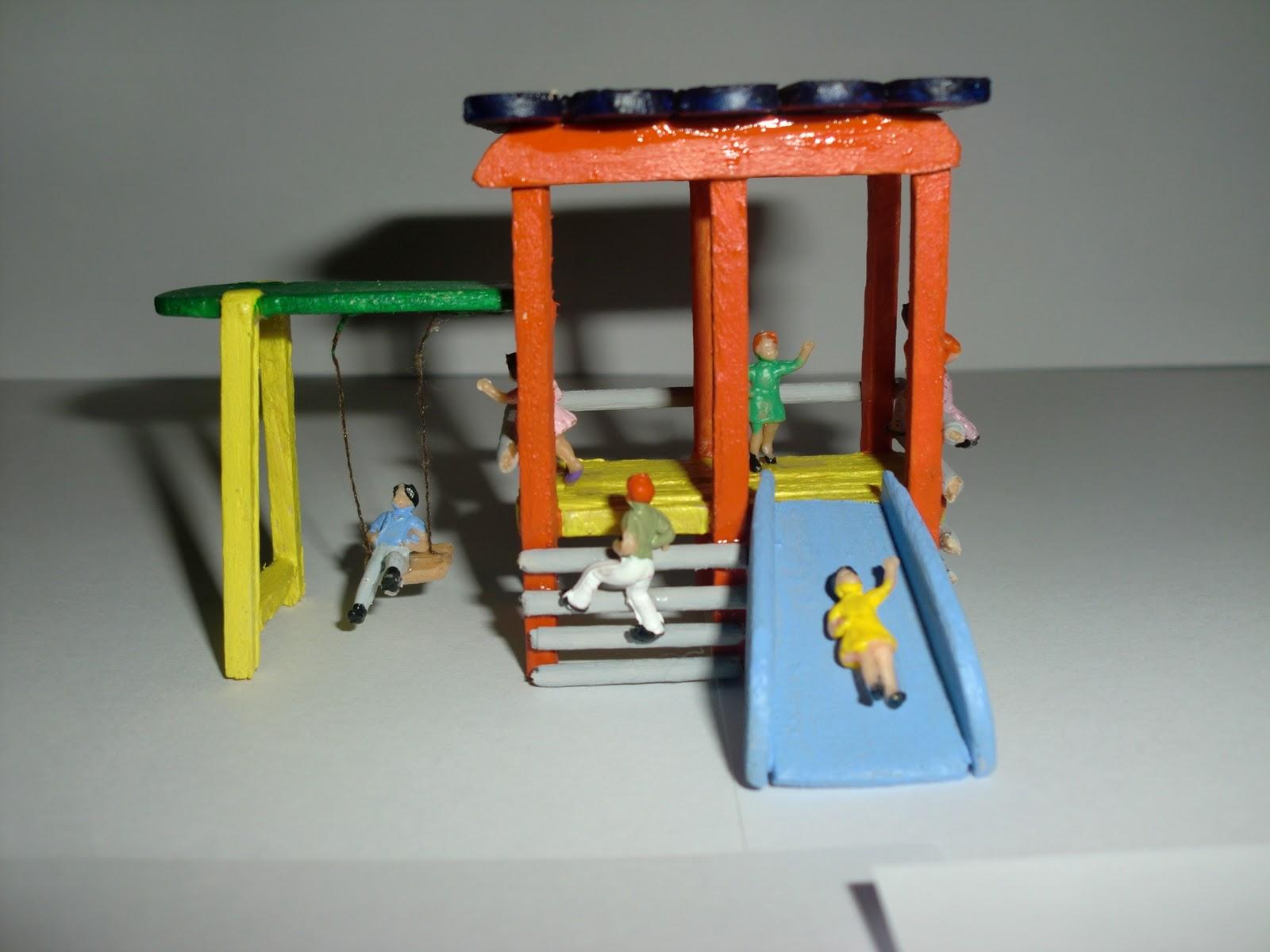 La maqueta de sponsh escala h0 v 4 0 parque infantil for Maquetas de jardines