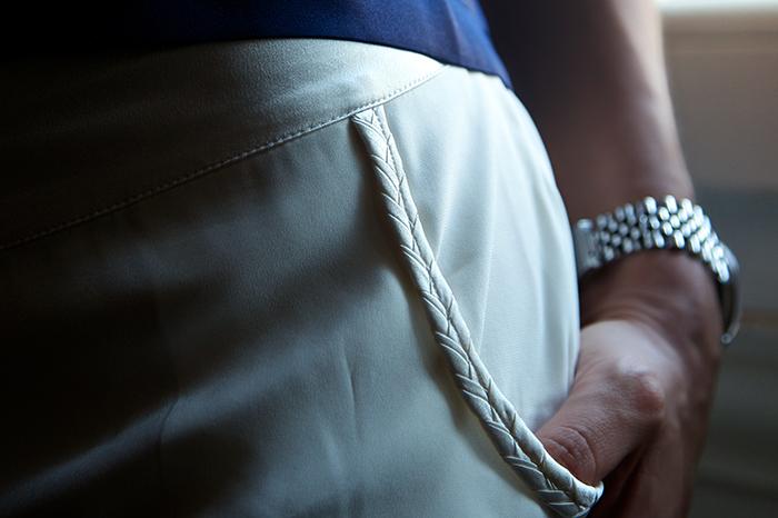 shorts seta bianca