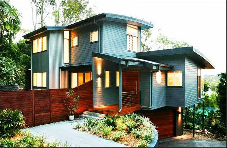 Gambar warna eksterior rumah
