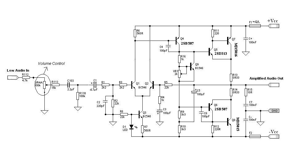 E Cracked Solutions Hi Fi Audio Amplifier Circuit Design And