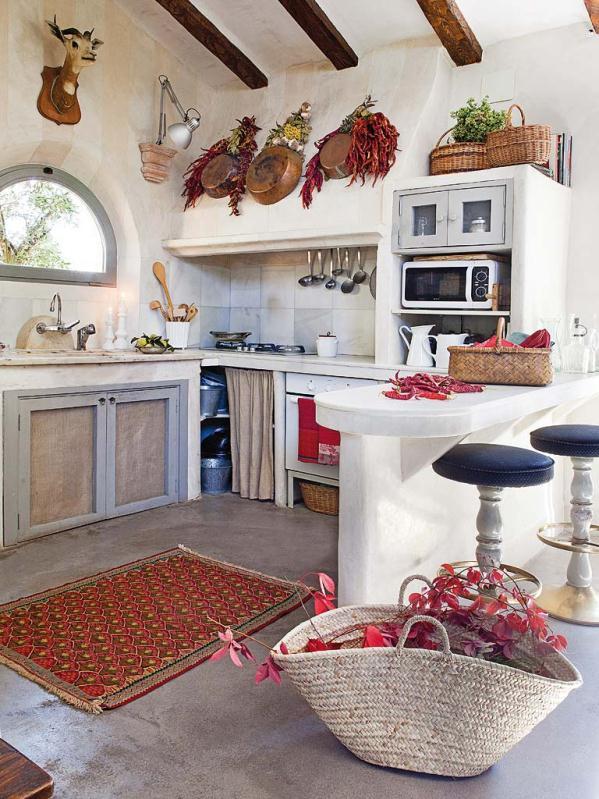 Una casa de campo unica charming country house - Cocinas de casa de campo ...