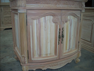 unfinished wood furniture with variation base color