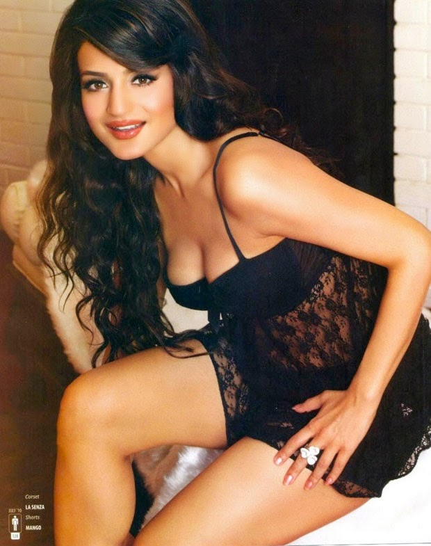 Ameesha Patel hot cleavage and sexy legs hd wallpapers