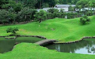 Golf Course Lake Landscape HD Wallpaper