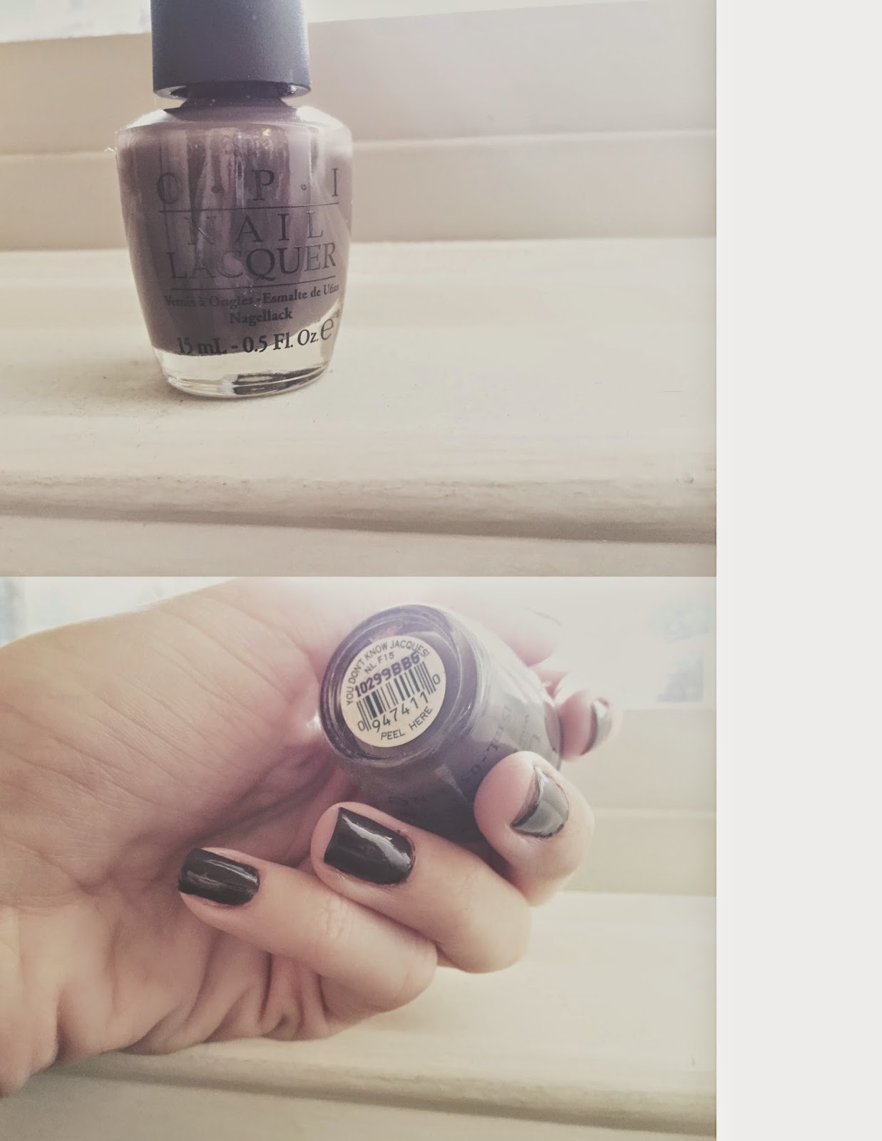 llovestoshare: Dark Nails - OPI You Don't Know Jaques!