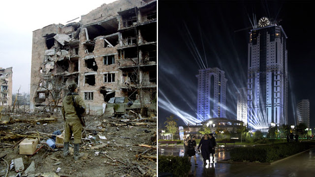grozny chechnya then and now