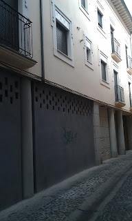 Detalle fachada de edificio de Talavera de la Reina. Toledo