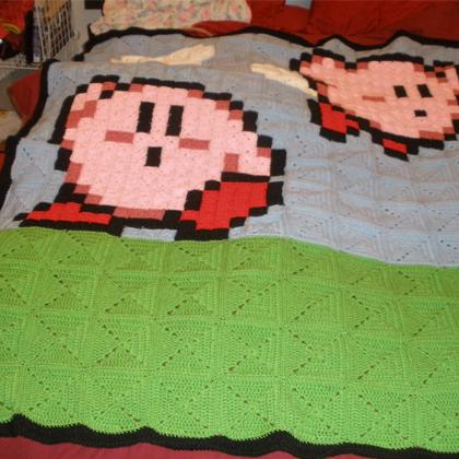 8Bit Kirby Blanket