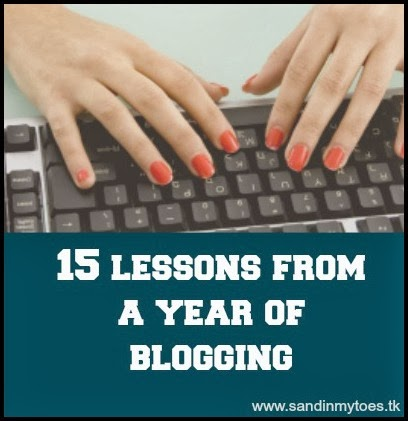 Fifteen lessons from a year of blogging at Sand In My Toes