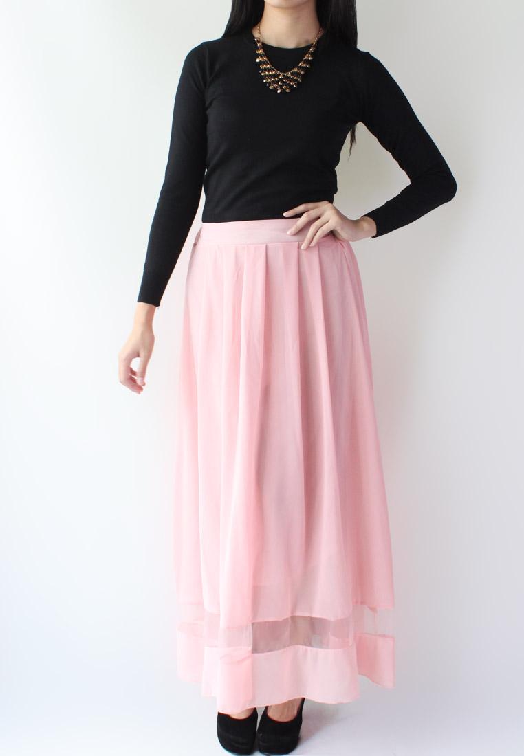 Cheap Black Maxi Skirt Slits
