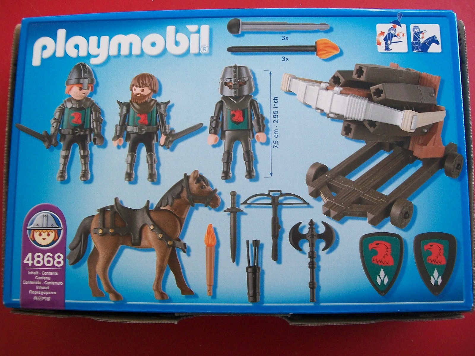 Playmochepe playmobil 4868 ballesta m ltiple con for Playmobil caballeros