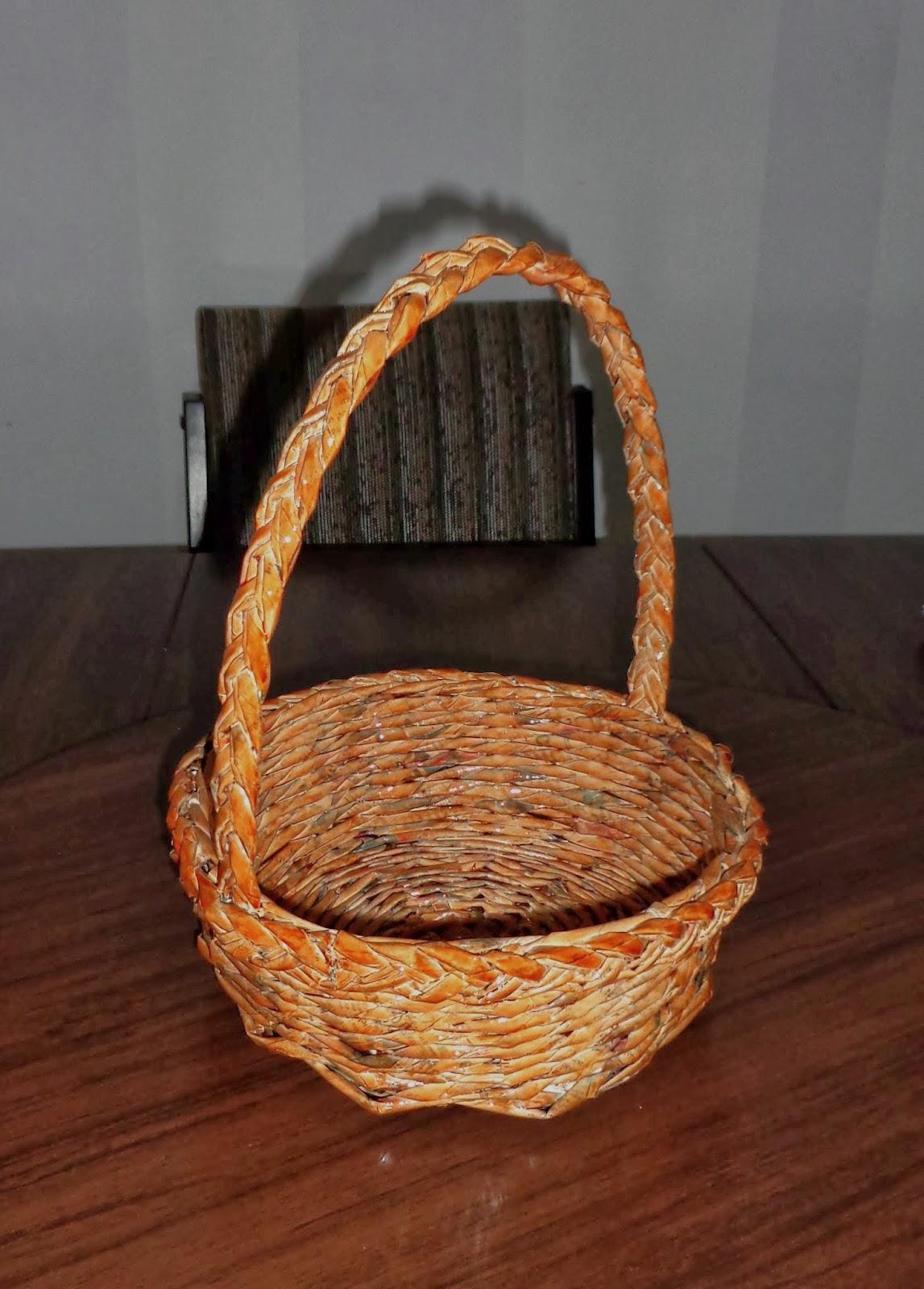 virtual online Como fazer cesta redonda com jornal no passo a passo