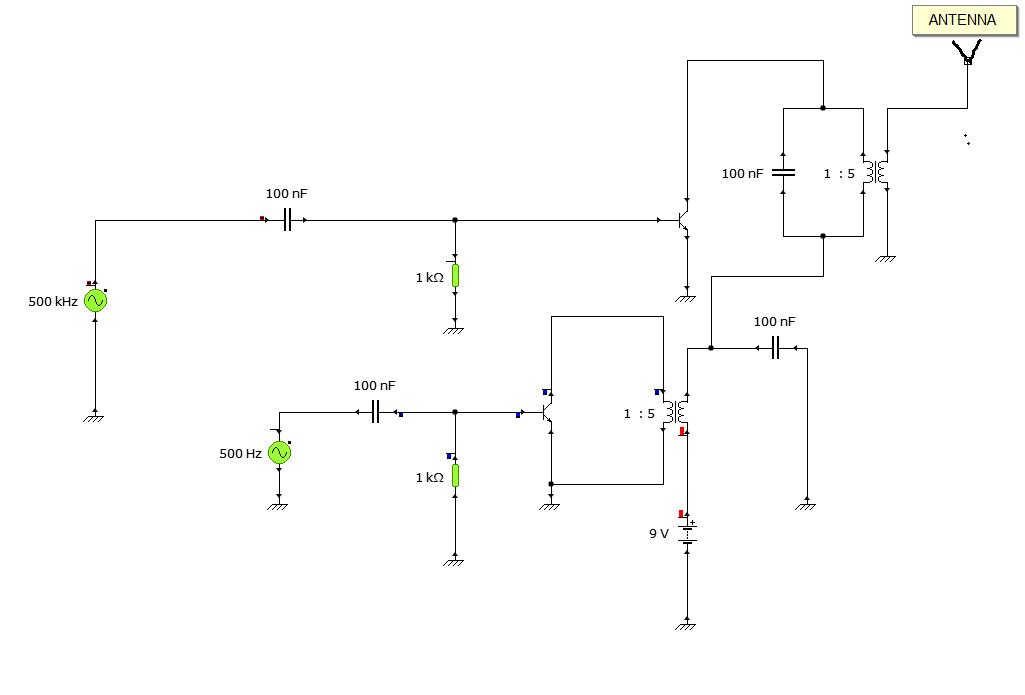 Conceptual AM Modulation Circuit Diagram