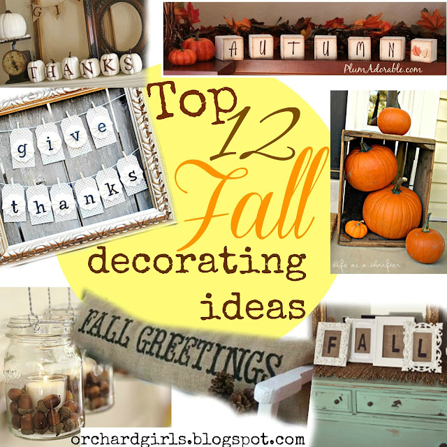 Top 12 Fall Decorating Ideas! - #fall #decorate #autumn