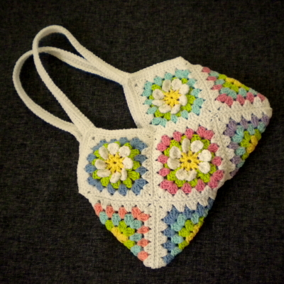 Granny Square Purse Pattern Free : Harujion Design: Free pattern for a Flower Gardan Granny Square