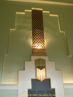 Wall lights in the chapel