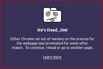 Google Chrome Kill Pages Error