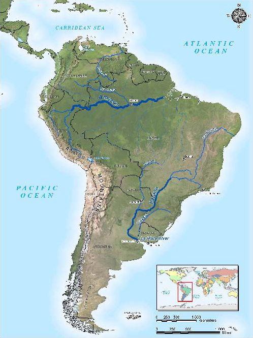 Parana River Map My Blog - Parana river map