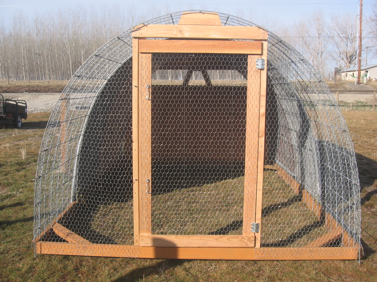 Project freedom ranger hoop house build for Panel house construction