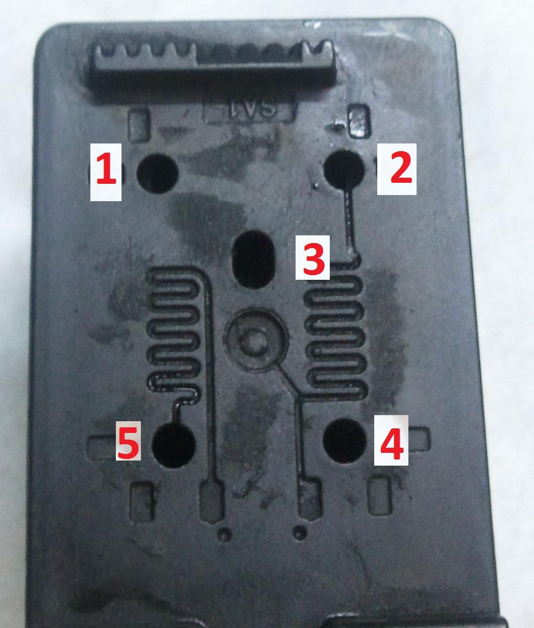 Refill Hp 802 Cartridge Tinta 46 Black Colour Original After Peeling Off The Sticker Label