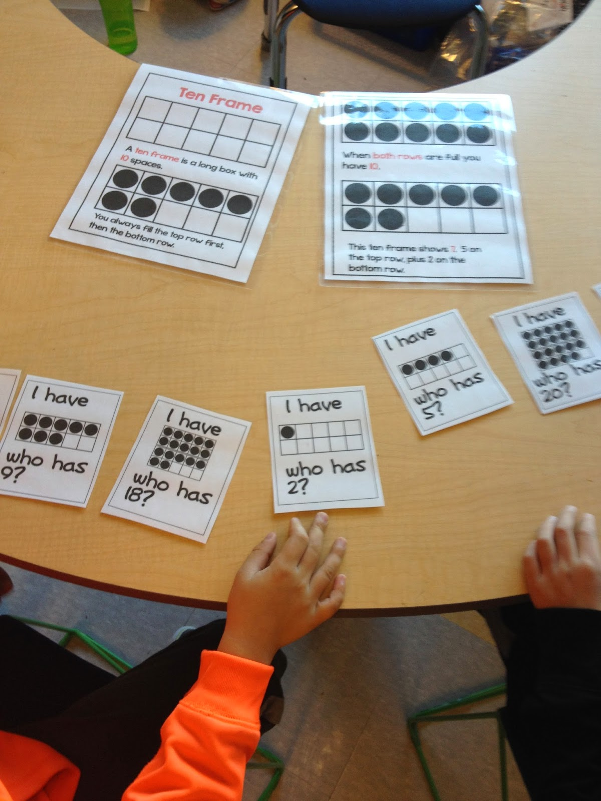 playing i have who has with numbers 0 20 on the ten frame from my number sense 0 20 resource