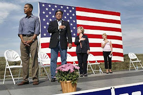 National Anthem is playing. The REAL Obama on display.