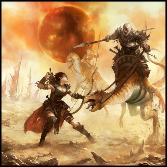 mike lim daarken ilustrações fantasia medieval violência batalhas monstros arte conceitual video games Sol negro
