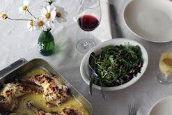 Dijon-sinapissa ja kermassa kypsennettyä kanaa