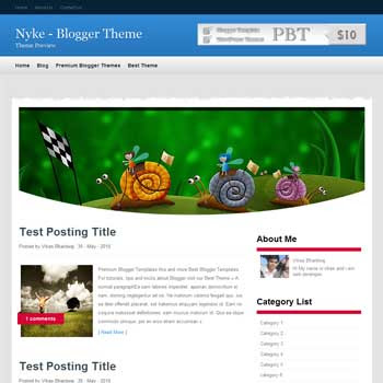 Nyke template blogger. convert wordpress theme to blogger template.wordpress to blogspot template. image slideshow blogger template