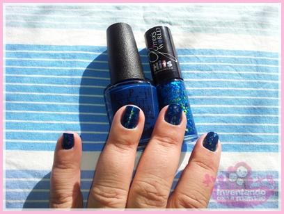 Glitter azul da Hits