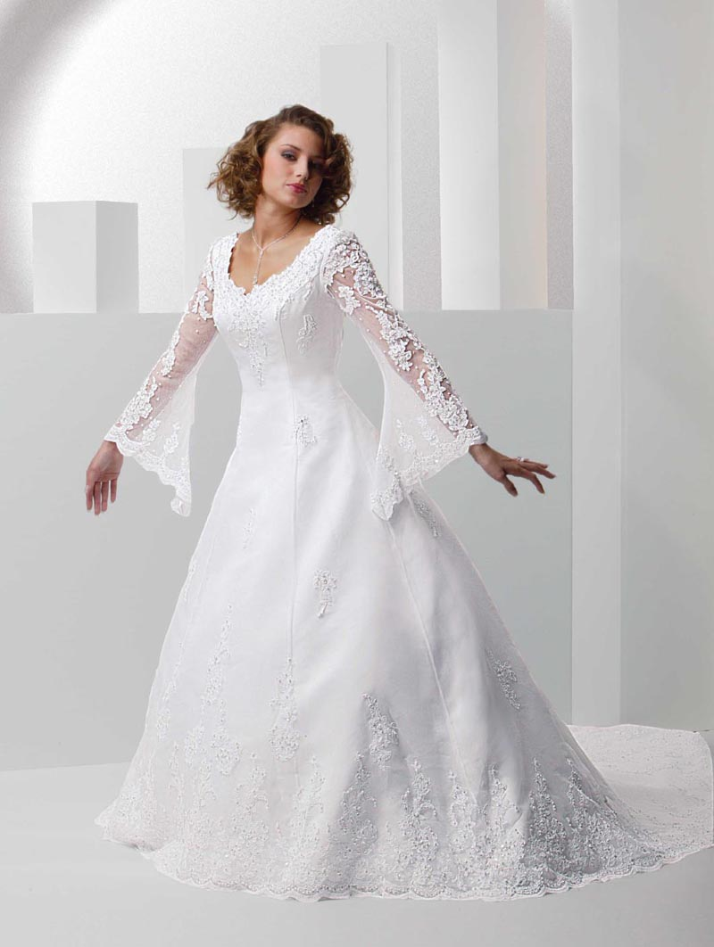 Manutrends2012 Wedding Dresses With Sleeves For Plus Size