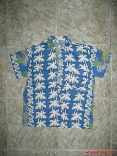 áo Hawai hoa văn cây dừa