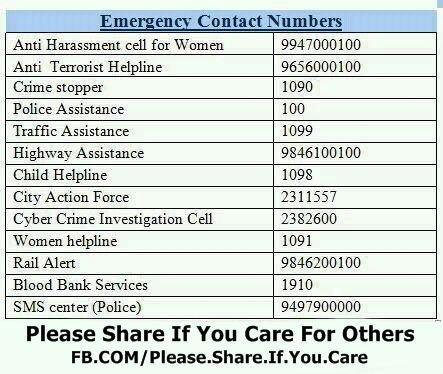 Emergency Contact Numbers