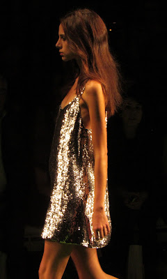 Jasper Conran SS13 Collection silver sequin dress
