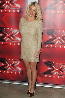 Britney Spears Tight Metallic Dress