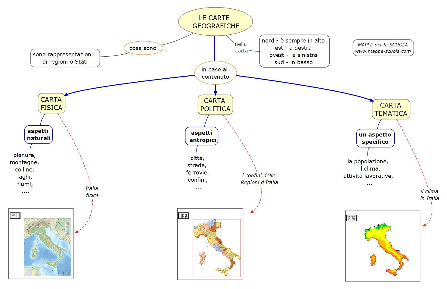 Super LE+CARTE+GEOGRAFICHE-mappe-scuola.com.jpeg (1485×959) | mental  DI66