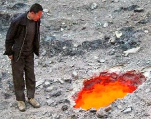 Heboh,Lubang Api Misterius Ditemukan Di China