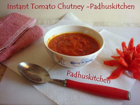 Quick easy tomato chutney recipe