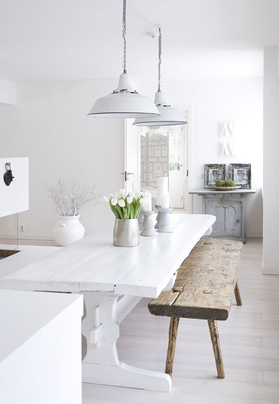 Dreamy scandinavian house 79 ideas - Garderobenbank ikea ...